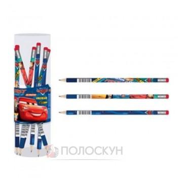 Олівець графітний з гумкою Сars 1 вересня