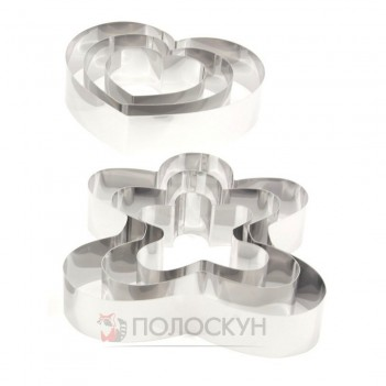 Форма кільце для торта (пряниковий чоловічок, серця) A-Plus
