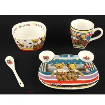 Дитячий набір посуду з кераміки A-Plus