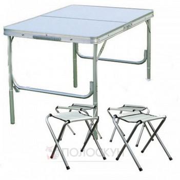 Стіл складний та 4 стільці для пікніка A-Plus