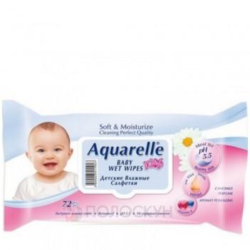 Серветки вологі для дітей Aquarelle