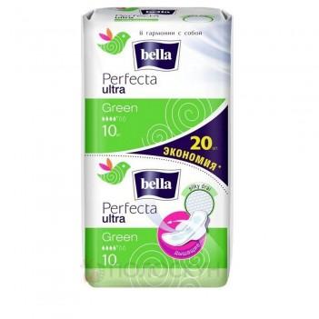Прокладки (з крильцями) Perfecta Ultra Green Bella
