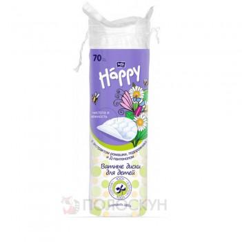 Ватні диски Baby Happy з екстрактом ромашки, подорожника nf Д-пантенолом Bella