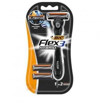 Станок для гоління + 2 катриджа Flex 3 Hybrid Bic