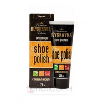 Крем для взуття з губкою Темно-коричневий Блискавка