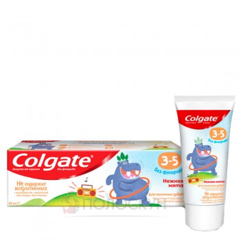Дитяча зубна паста без фториду 3-5р Colgate