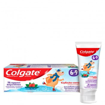 Дитяча зубна паста з фторидом 6-9р Colgate