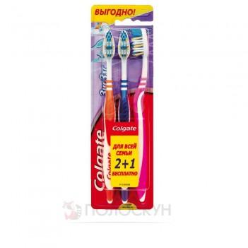 Набір зубних щіток Зіг Заг 2+1 середньої жорсткості Colgate