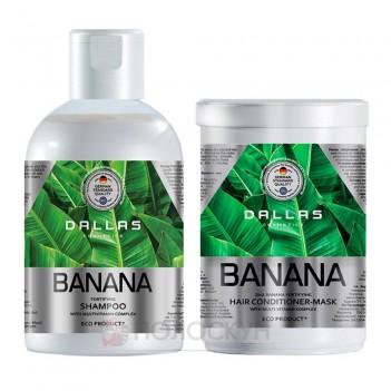 Набір для волосся шампунь 1000мл та маска 500мл Банан Dallas