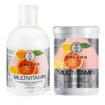 Набір для волосся шампунь 1000мл та маска 500мл Мультивітамін Dallas