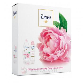 Подарунковий набір Ніжна краса Півонія та трояндова олія Dove