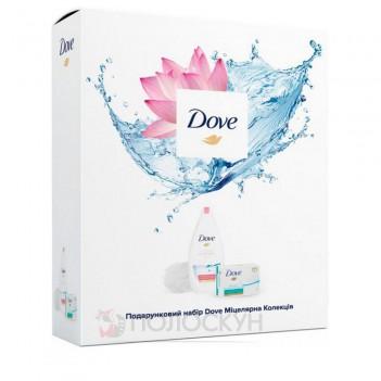 Набір Міцелярна колекція (гель для душу + мило тверде + мочалка) Dove