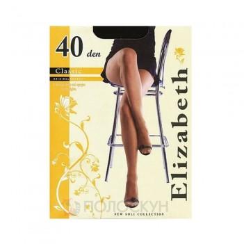 Жіночі колготи 40 DEN №6 Чорний Elizabeth