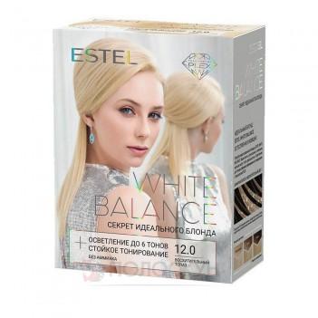 Висвітлювач+тон для волосся 12.0 Неперевершений топаз White Balance Estel
