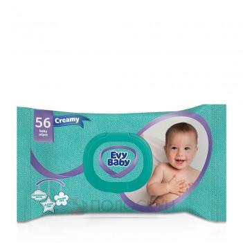 Вологі серветки для дітей Крем Evy Baby