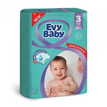 Дитячі підгузки N3 від 5 до 9 кг Evy Baby