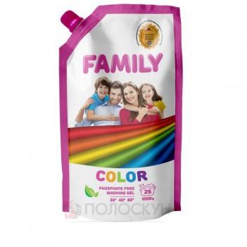 Гель для прання для кольорових речей Family