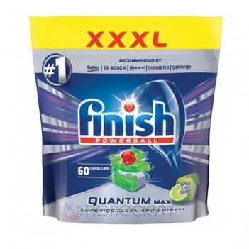 Таблетки для посудомийних машин Quantum Max Яблуко та лимон Finish