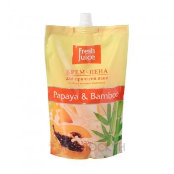 Піна для ванн Папайя і бамбук Fresh Juice