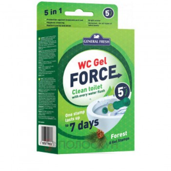 Гелеві диски для унітазів WC Gel Force Ліс General Fresh