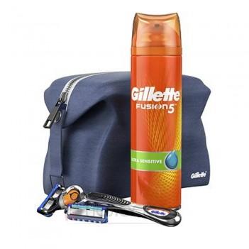 Набір косметичка+станок+гель для гоління+катридж Gillette