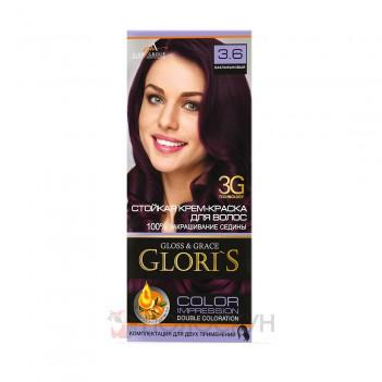 Фарба для волосся №3.6 Баклажан Gloris