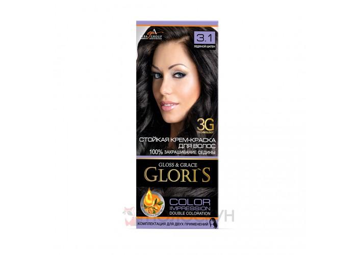 Фарба для волосся №3.1 Натуральний шатен Gloris