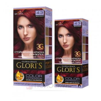 Фарба для волосся №4.3 Дика вишня Gloris