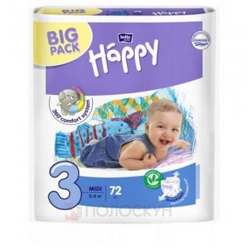 Підгузники дитячі Midi N3 (5-9кг) Happy