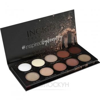 Професійна палітра тіней Matt&Glam Nude Of Natural Beauty 10 кольорів Ingrid