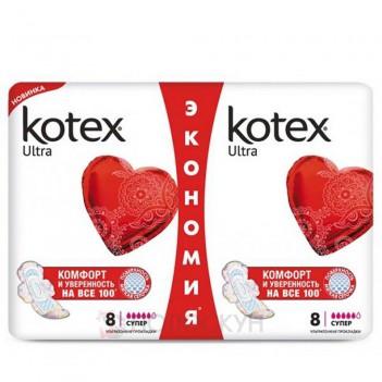 Гігієнічні прокладки Ultra Dry Super Duo Kotex