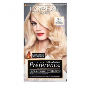 Фарба для волосся Recital Preference №01 Світло-русий натуральний LOreal
