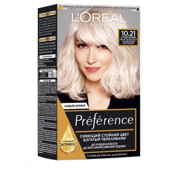 Фарба для волосся Recital Preference №10.21 Світло-світло русявий перламутровий LOreal