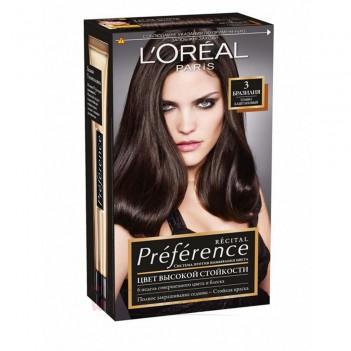 Фарба для волосся Recital Preference №3 Темно-каштановий LOreal