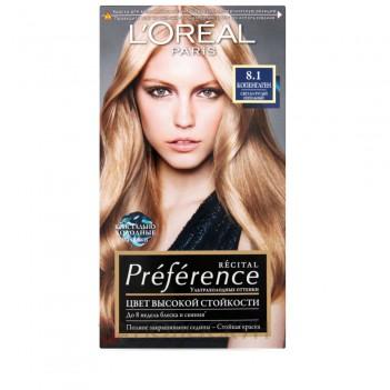 Фарба для волосся Recital Preference №8.1 Світло-русявий попелястий LOreal
