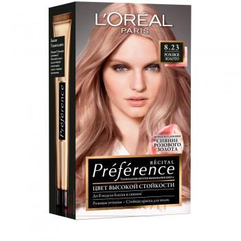 Фарба для волосся Recital Preference №8.23 Світло-русявий рожево-перламутровий LOreal