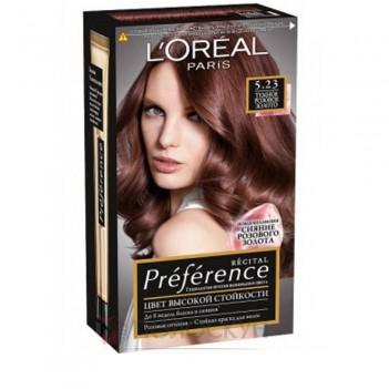 Фарба для волосся Recital Preference №5.23 Світло-каштановий рожево-перламутровий LOreal