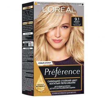 Фарба для волосся Recital Preference №9.1 Світло русявий-попелястий LOreal