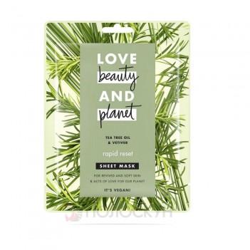 Тканинна маска для обличчя Швидке перезавантаження Love Beauty and Planet