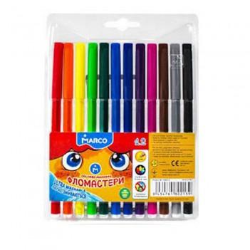 Фломастери 12 кольори Marco