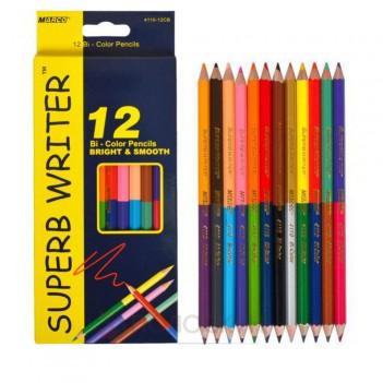 Кольорові олівці Двохсторонні Marco