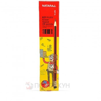 Олівецьтехнічний Neon HB з гумкою Nataraj