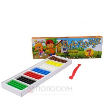 Пластилін 7 кольорів неЗнайка