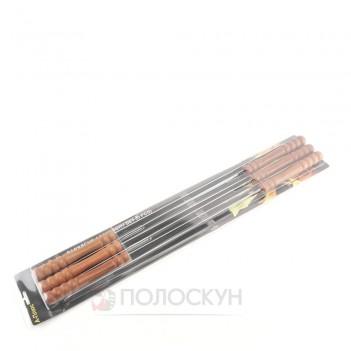 Набір шампурів 6шт з деревяною ручкою 60см