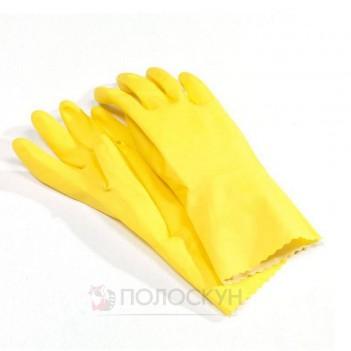 Рукавиці гумові жовті