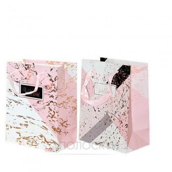 Подарунковий пакет картоний з фольгою Комбінація кольорів 18х23х10см