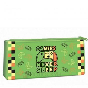 Пенал-косметичка силіконовий Gamers never sleep