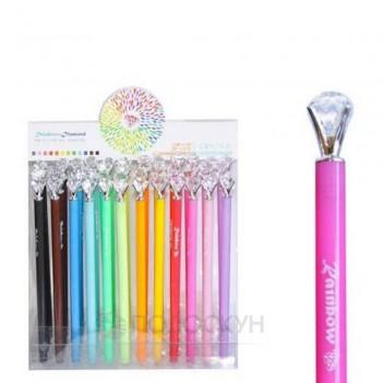 Гелева ручка з кристалом 0,38мм
