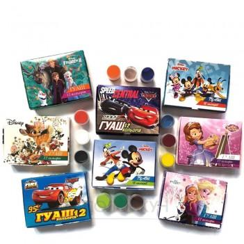 Фарба гуаш 12 кольорів Мікс Disney