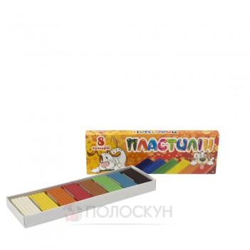 Пластилін для ліплення 8 кольорів